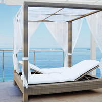 Patio Double Poster Bed | Mezzo Outdoor Double Sun Bed