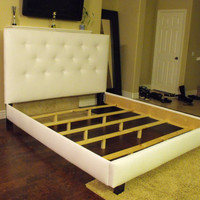 White Queen bed frame