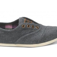 TOM'S Slate Wool Women's Cordones