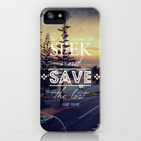 Luke 19:10 iPhone Case by Pocket Fuel | Society6