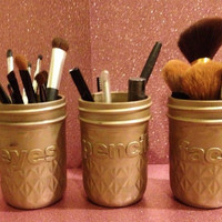 Set of 3 Customized Makeup Brush Holders