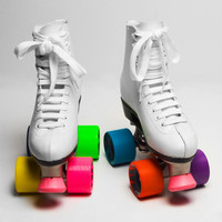 Colorblock Roller Skates | Rainbow Skates | fredflare.com
