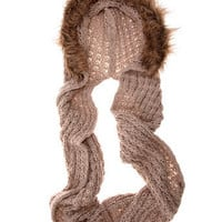 Cream chunky fur trim snood - View All New In   - What's New  - Dorothy Perkins