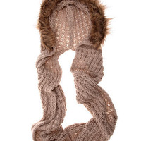 Cream chunky fur trim snood - View All New In   - What&amp;#039;s New  - Dorothy Perkins