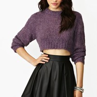Truncate Crop Knit - Plum