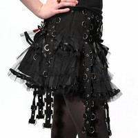 Hell Bunny Chai Mini Skirt - Black - Punk.com