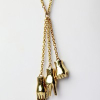 Galibardy Rock Paper Scissor Necklace - Punk.com