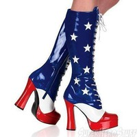Wonder Patriot Woman Boots 5 Inch Heel