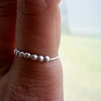Large Bubble Sterling Silver Stacking Ring