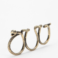 Snake Triple-Finger Ring