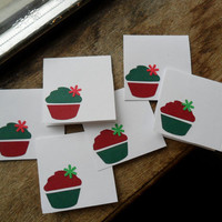 holiday cupcake cards, christmas cards, cupcake cards, mini cards (6)