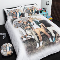 One Direction 1D Single Bed Size Doona Quilt Cover Set + Cushion NEW Design 4