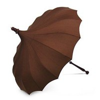 Espresso Brown Bella Pagoda Umbrella - Pagoda Rain Umbrellas - Umbrellas.net - Seattle