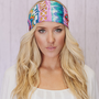 Aztec Headband Lavender Cotton Wide Head Wrap