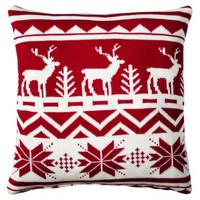 Fair Isle Deer Pillow