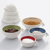 busy bee ceramic measuring cups from RedEnvelope.com