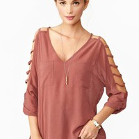 Cutout Pocket Top