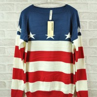 Oversized Flag Sweater from Seek Vintage
