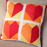 Red Hearts Cushion on Luulla