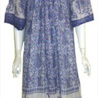 Sheer Cotton Gauze Vintage Clothing Tent Dress