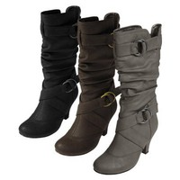 Womens Adi Designs Ring Accent Slouchy Boots