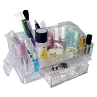Cleanup Cosmetics.Luxury Crystal Acrylic Makeup Organizer.Multiple Display