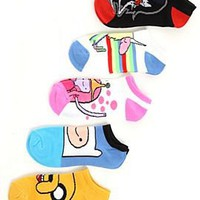 Adventure Time Characters No-Show Socks 5 Pair - 183287