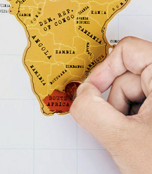 Scratchable Traveling Map