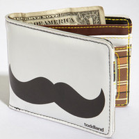 Toddland Mustache Wallet | Light Grey Mustache Wallet | fredflare.com