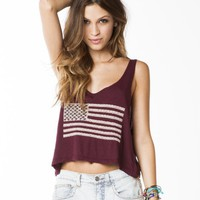 Mirella Flag Embroidery Tank