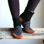 Wool Slipper Socks for Men &amp; Women, Eco Friendly, women sizes 6.5, 9.5, men size 14, Old Friend