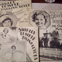 "Vintage Shirley Temple Book Set - 1936 - ""Twinkletoes"", ""On the Movie Lot"", and ""In Starring Roles"" - Christmas Special"