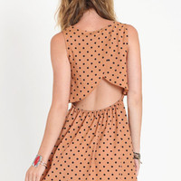 Dottie Spotted Tulip Back Dress