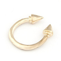 Unique Gold Tone Spike Band Ring wholesale