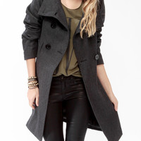Heavy Wool-Blend Coat