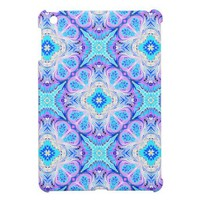 iPad Mini Case Turquoise and Lavender Pattern from Zazzle.com