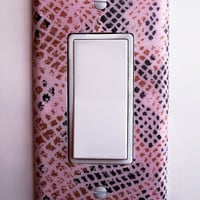 Pink Python Single Rocker / GFI Switchplate