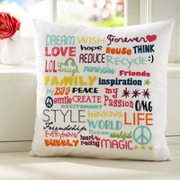 Dream Wish Forever Organic Pillow Cover | PBteen