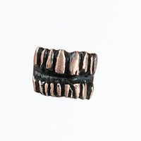 Rose Gold Plated Teeth Ring by AMictlan on Etsy
