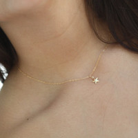 Lucky Star 14K Gold Filled Pendant Necklace.All 14k gold filled.