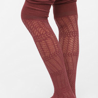 Cascading Herringbone Thigh-High Sock