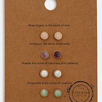 Topshop 'Message' Stud Earrings (Set of 4) | Nordstrom
