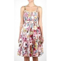 D&G Pleated Mimosa Print Boned Dress??260?cheap D&G ?clothes?D&G