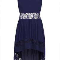 Border Lace Dip Hem Dress - New In This Week  - New In