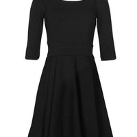 Retro Pleated Style Black Shift Dress(Coming Soon) [NRBD0191] - $33.99 :