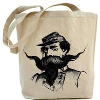 $19.00 Tote bag classy Mustache Man by PaisleyMagic on Etsy