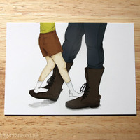 $2.44 My Papa's Waltz Postcard Print by BryonyCrane on Etsy