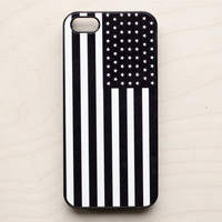 American Flag iPhone 5 4 4S Case New iPhone 4 Black & White Print Americana