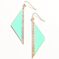 With Love From CA Rhinestone Triangle Earrings at PacSun.com