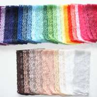Stretch Lace Headband Hand Dyed CUSTOM SIZE Rainbow Colors Adult Headbands Teenager Little Girls Newborn